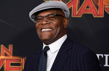 "HOLLYWOOD, CALIFORNIA - MARCH 04: Samuel L. Jackson attends Marvel Studios ""Captain Marvel"" Premiere on March 04, 2019 in Hollywood, California. (Photo by Frazer Harrison/Getty Images)"