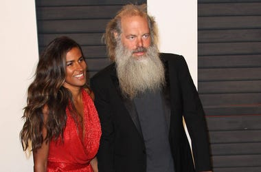 28 February 2016 - Beverly Hills, California - Mourielle Herrera, Rick Rubin. 2016 Vanity Fair Oscar Party hosted by Graydon Carter following the 88th Academy Awards held at the Wallis Annenberg Center for the Performing Arts. Photo Credit: AdMedia