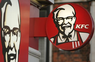 4/25/2016 - Embargoed to 0001 Monday April 25 File photo dated 21/01/09 of a Kentucky Fried Chicken (KFC) sign as the Fast food chain has launched an investigation after a BBC researcher was served ice with bacteria from faeces on it. (Photo by PA Images/