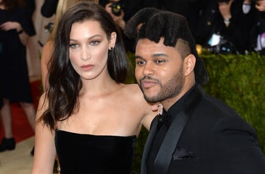 5/2/2016 - Bella Hadid and The Weeknd attending The Metropolitan Museum of Art Met Gala 2016, in New York City, USA.  Photo Credit should read: Doug Peters/EMPICS Entertainment  (Photo by PA Images/Sipa USA)