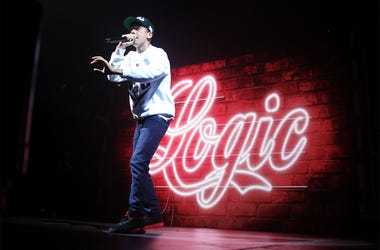 BROOKLYN, NY-JULY 26: Rapper Logic performs during The Endless Summer Tour With Yo Gotti, G-Eazy & YG at Barclays Center of Brooklyn on July 26, 2016 in the Brooklyn borough of New York City. (Photo by D. Wong - imageSPACE)