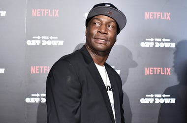Grandmaster Flash attends 'The Get Down' New York premiere at Lehman Center For The Performing Arts in the Bronx borough of New York, NY, on on August 11, 2016. (Photo by Anthony Behar)