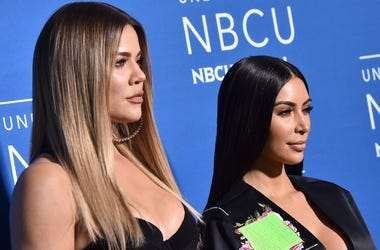 Khloe Kardashian and Kim Kardashian attend the 2017 NBCUniversal Upfront at Radio City Music Hall in New York, NY, on May 15, 2017. (Photo by Anthony Behar)