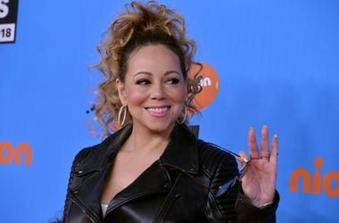 Mariah Carey walking on the red carpet during the 2018 Nickelodeon Kids' Choice Awards held at The Forum in Inglewood, CA on March 24, 2018. (Photo By Sthanlee B. Mirador/Sipa USA)
