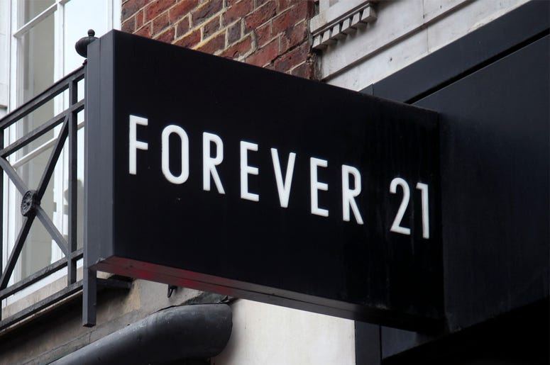 5/29/2018 - A branch of Forever 21 next to an H&M store on Oxford Street, central London. (Photo by PA Images/Sipa USA)