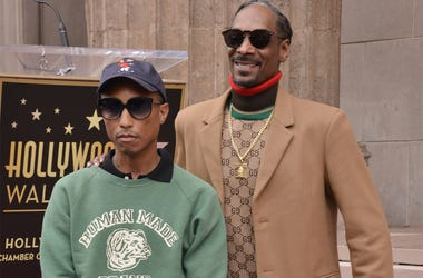 (L-R) Pharrell Williams and Snoop Dogg at the Snoop Dogg Star On The Hollywood Walk Of Fame Ceremony held in front of the Jimmy Kimmel Live in Hollywood, CA on Monday, November 19, 2018. (Photo By Sthanlee B. Mirador/Sipa USA)