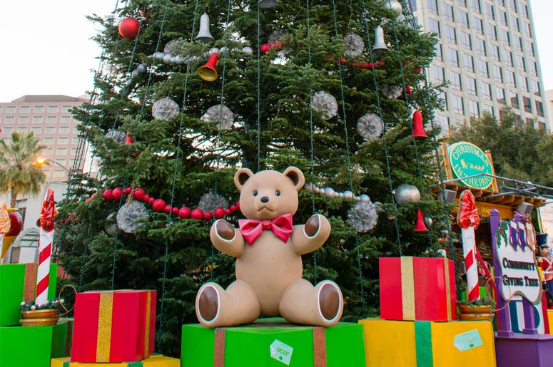 San Jose's Annual Christmas in the Park - Giant Christmas Tree with Presents © Nam Nguyen