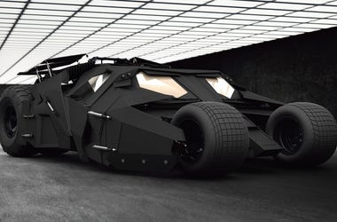 The 'Dark Knight' Batmobile (Photo credit: Dsmexy/Dreamstime)