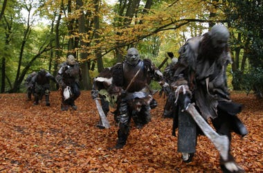 LONDON - OCTOBER 25: Filming takes place in Epping Forest for a new chapter based on the epic trilogy, 'The Lord Of The Rings' on October 25, 2008 in London, England. The short internet based film/drama 'Born Of Hope' is inspired by paragraphs written by