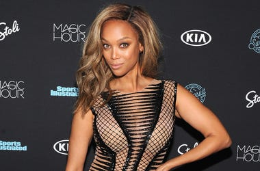 NEW YORK, NY - FEBRUARY 14: Model Tyra Banks attends Sports Illustrated Swimsuit 2018 Launch Event at Magic Hour at Moxy Times Square on February 14, 2018 in New York City. (Photo by Craig Barritt/Getty Images for Sports Illustrated)
