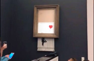 """""""Girl with Balloon"""" by artist Banksy"""