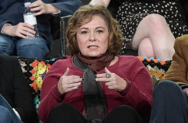 "In this Jan. 8, 2018, file photo, Roseanne Barr participates in the ""Roseanne"" panel during the Disney/ABC Television Critics Association Winter Press Tour in Pasadena, Calif. ABC canceled its hit reboot of ""Roseanne"" on Tuesday, May 29, 2018, following s"