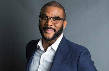 """In this Nov. 16, 2017, file photo, actor-filmmaker and author Tyler Perry poses for a portrait in New York to promote his book, """"Higher Is Waiting."""" Perry is warning fans not to be scammed. The actor, comedian and director in a video says he's not giving"""