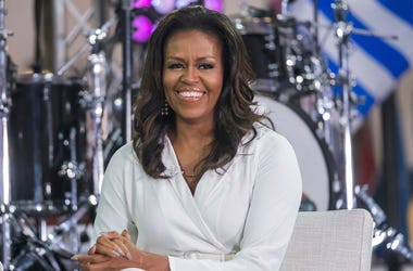 "In this Oct. 11, 2018 file photo, Michelle Obama participates in the International Day of the Girl on NBC's ""Today"" show in New York. Oprah Winfrey and Reese Witherspoon will be among the special guests when Michelle Obama goes on tour for her memoir ""Bec"