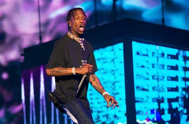 In this June 2, 2018 file photo, rapper Travis Scott performs at The Governors Ball Music Festival in New York. Scott is in talks to perform at the Super Bowl halftime in Atlanta. A person familiar with the situation, who spoke on the condition of anonymi