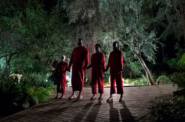 "This image released by Universal Pictures shows a scene from Jordan Peele's upcoming film, ""Us,"" which will make its world premiere at the South by Southwest Film Festival. (Claudette Barius/Universal Pictures via AP)"