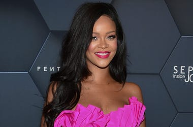 In this Sept. 14, 2018 file photo, singer Rihanna arrives at the Fenty Beauty by Rihanna one year anniversary party in New York. Rihanna is suing her father over his use of their last name for a business. In the lawsuit filed Tuesday in federal court in L