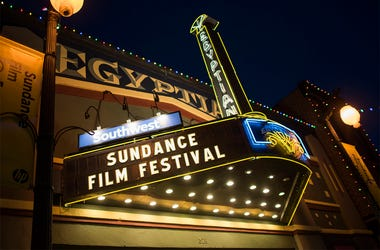 In this Thursday, Jan. 22, 2015, file photo, the Egyptian Theatre is lit up on Main Street during the first night of the Sundance Film Festival in Park City, Utah. The mountainside festival, which kicks off Thursday, Jan. 24, 2019, in Park City, Utah, has