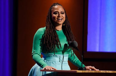 "In this Nov. 18, 2018, file photo filmmaker Ava DuVernay addresses the audience during the 2018 Governors Awards at The Ray Dolby Ballroom in Los Angeles. ""VH1 Trailblazer Honors"" will pay tribute to Academy Award-nominated director DuVernay to kick off W"