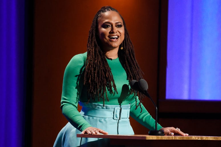 """In this Nov. 18, 2018, file photo filmmaker Ava DuVernay addresses the audience during the 2018 Governors Awards at The Ray Dolby Ballroom in Los Angeles. """"VH1 Trailblazer Honors"""" will pay tribute to Academy Award-nominated director DuVernay to kick off W"""