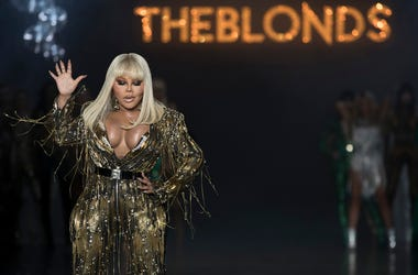 Lil' Kim performs during The Blonds collection presentation during New York Fashion Week, Tuesday, Feb. 12, 2019. (AP Photo/Mary Altaffer)