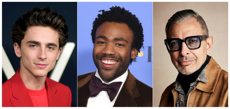 As for men, Timothee Chalamet is considered a trendsetter. Donald Glover's style is throwback while Jeff Goldblum's is eccentric. People magazine calls Henry Golding the gentleman.