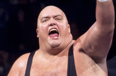 This image provided by the WWE shows professional wrestler King Kong Bundy. The 6-foot-4 (1.93 meters), 458-pound (208-kilogram) wrestler made his World Wrestling Federation debut in 1981 and was best known for facing Hulk Hogan in 1986 in a steel cage ma