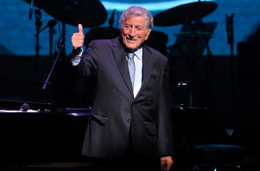 """Tony Bennett performs onstage at the Jazz Foundation of America's 17th annual """"A Great Night In Harlem"""" gala concert at the Apollo Theater on Thursday, April 4, 2019, in New York. (Photo by Brad Barket/Invision/AP)"""