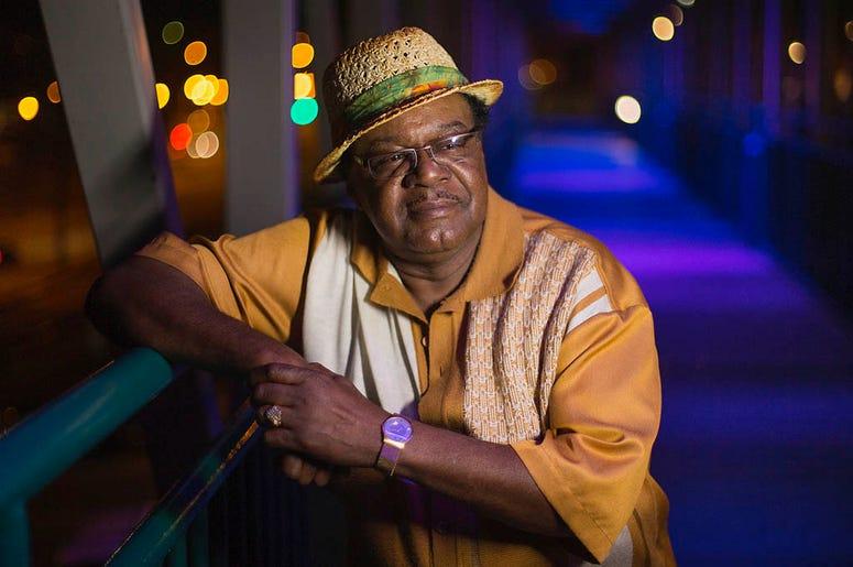 This 2013 image released by Old Bridge Media shows John Gary Williams posing in downtown Memphis, Tennessee. (Lance Murphey/Old Bridge Media LLC via AP)