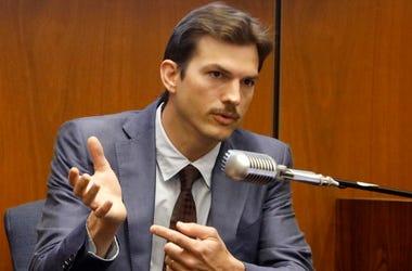 Ashton Kutcher testifies in the murder trial of Michael Gargiulo in Los Angeles Superior Court.  (Genaro Molina/Los Angeles Times via AP, Pool)