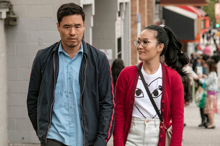 "This undated image shows Randall Park and Ali Wong in a scene from the movie ""Always Be My Maybe."" The newly released Netflix movie is an Asian-American rom-com with a twist: ethnicity isn't central to the plot. (Courtesy of Netflix)"