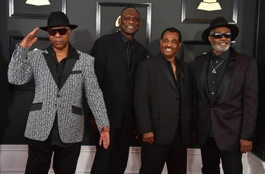 In this Feb. 12, 2017 file photo Dennis D.T. Thomas, from left, George Brown, Robert Bell, and Ronald Bell, of the musical group Kool & The Gang, arrive at the 59th annual Grammy Awards at the Staples Center, in Los Angeles. (Jordan Strauss/Invision/AP, F