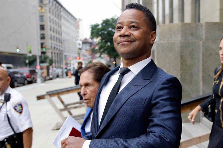 Cuba Gooding Jr. leaves criminal court Thursday, June 13, 2019, in New York. (AP Photo/Frank Franklin II)