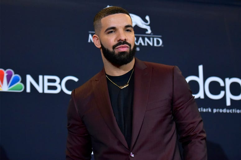 This May 1, 2019 file photo shows Drake at the Billboard Music Awards in Las Vegas. (Photo by Richard Shotwell/Invision/AP, File)