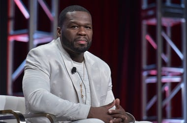 "Curtis ""50 Cent"" Jackson participates in the Starz ""Power"" panel at the Television Critics Association Summer Press Tour on Friday, July 26, 2019, in Beverly Hills, Calif. (Photo by Richard Shotwell/Invision/AP)"