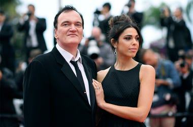 "In this May 18, 2019 file photo, film director Quentin Tarantino and his wife Daniela Pick pose for photographers upon arrival at the premiere of the film ""The Wild Goose Lake"" at the 72nd international film festival, Cannes, southern France. (Photo by Ar"