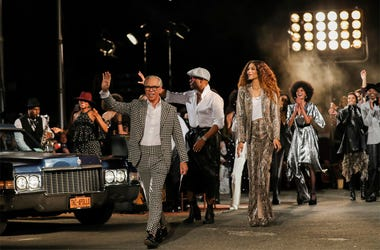 Designer Tommy Hilfiger is seen after the Tommy Hilfiger show during Fashion Week in New York, Sunday, Sept. 8, 2019. (AP Photo/Jeenah Moon)