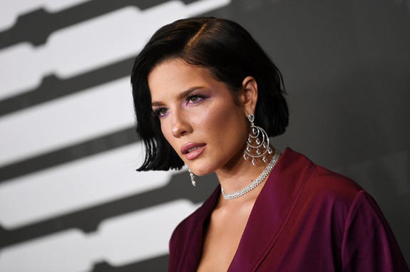 Singer Halsey attends the Spring/Summer 2020 Savage X Fenty show, presented by Amazon Prime, at the Barclays Center on Tuesday, Sept, 10, 2019, in New York. (Photo by Evan Agostini/Invision/AP)