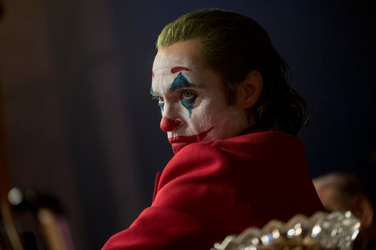 "This image released by Warner Bros. Pictures shows Joaquin Phoenix in a scene from ""Joker,"" in theaters on Oct. 4. (Niko Tavernise/Warner Bros. Pictures via AP)"