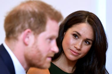 The Duke and Duchess of Sussex attend the annual WellChild Awards in London, Tuesday Oct. 15, 2019. The WellChild Awards celebrate the inspiring qualities of some of the country's seriously ill young people. (Toby Melville/Pool via AP)