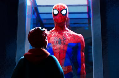 "This image released by Sony Pictures Animations shows a scene from ""Spider-Man: Into the Spider-Verse."" Sony Pictures on Friday set a follow-up to the 2018 Oscar-winning hit for release in April 2022. (Sony Pictures Animation via AP)"