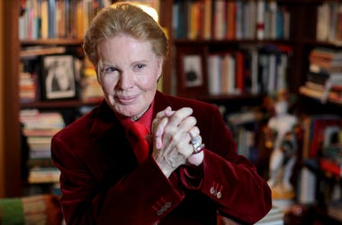 In this Feb. 14, 2012 file photo, Puerto Rican astrologer Walter Mercado, also known as Shanti Ananda, gives a press conference in San Juan, Puerto Rico. (AP Photo/Dennis M. Rivera Pichardo, File)
