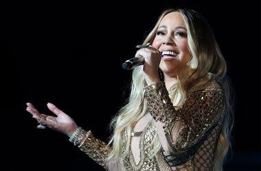 This Oct. 20, 2019 file photo shows Mariah Carey performing during a concert celebrating Dubai Expo 2020 One Year to Go in Dubai, United Arab Emirates. (AP Photo/Kamran Jebreili, File)