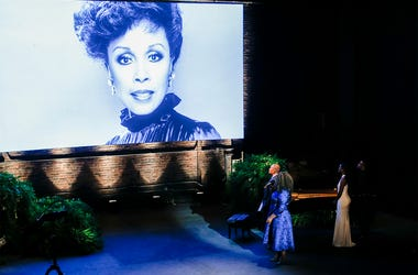 American singer Dianne Reeves performs during the memorial for actress Diahann Carroll at the Helen Hayes Theater on Sunday, Nov. 24, 2019 in New York.  (AP Photo/Eduardo Munoz Alvarez)