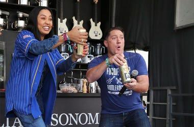 Ayesha Curry & Liam Mayclem at BottleRock