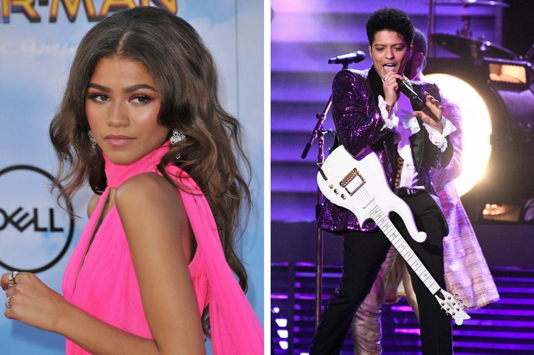 Watch Zendaya Leaves Versace On The Floor In Bruno Mars
