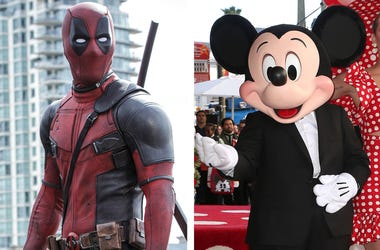 Deadpool and Mickey Mouse (Photo credit: Joe Lederer/Twentieth Century Fox Film Corp/F. Sadou/AdMedia/Sipa USA)