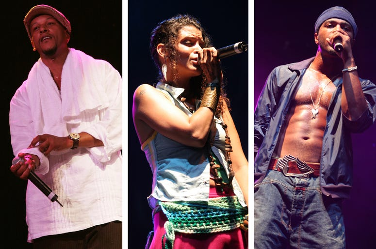 CHICAGO - JULY 23: Doodlebug, Ladybug and Butterfly with the Digable Planets performs live in concert at the Lollapalooza 2005 festival July 23, 2005 in Chicago, Illinois. (Photo by Matt Carmichael/Getty Images)