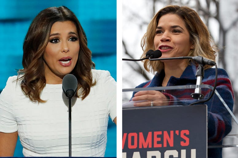 In this July 25, 2016, file photo, actress Eva Longoria speaks during the first day of the Democratic National Convention in Philadelphia. (AP Photo/J. Scott Applewhite, File)