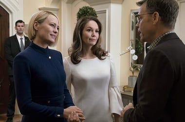 Robin Wright, Diane Lane, Greg Kinnear in 'House of Cards' (Photo credit: Netflix)